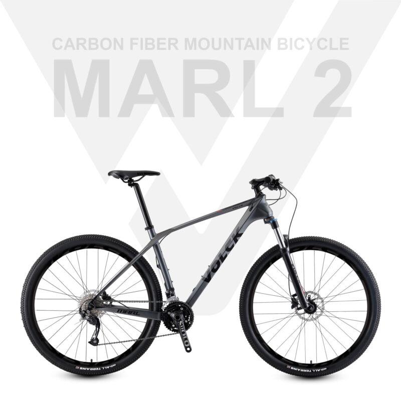 Marl 2 Carbon Fiber Mountain Bike (Grey Black)