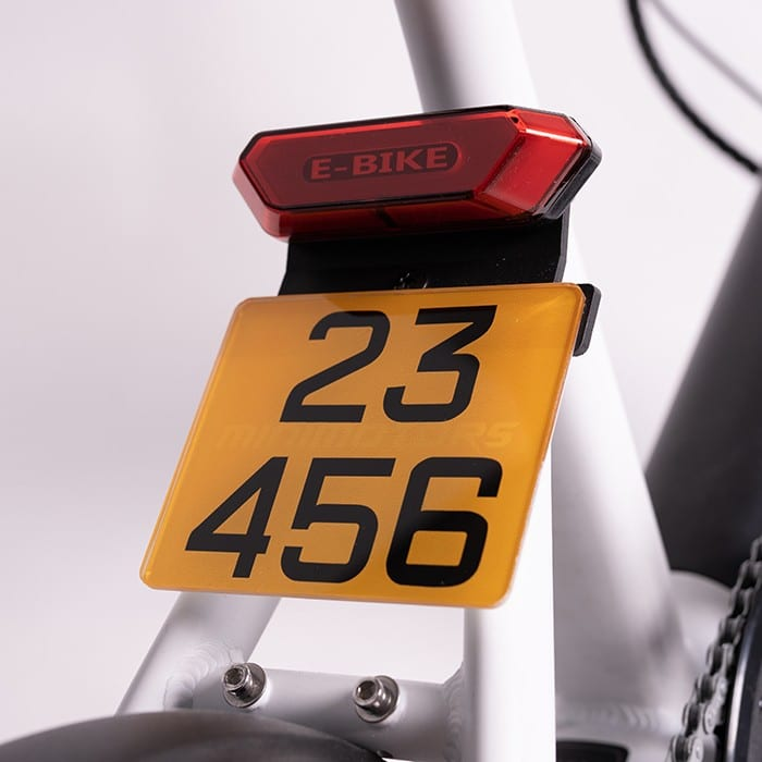LTA Compliant Waterproof Crystal Acrylic Number Plate for Ebike/Electric bicycle/PAB