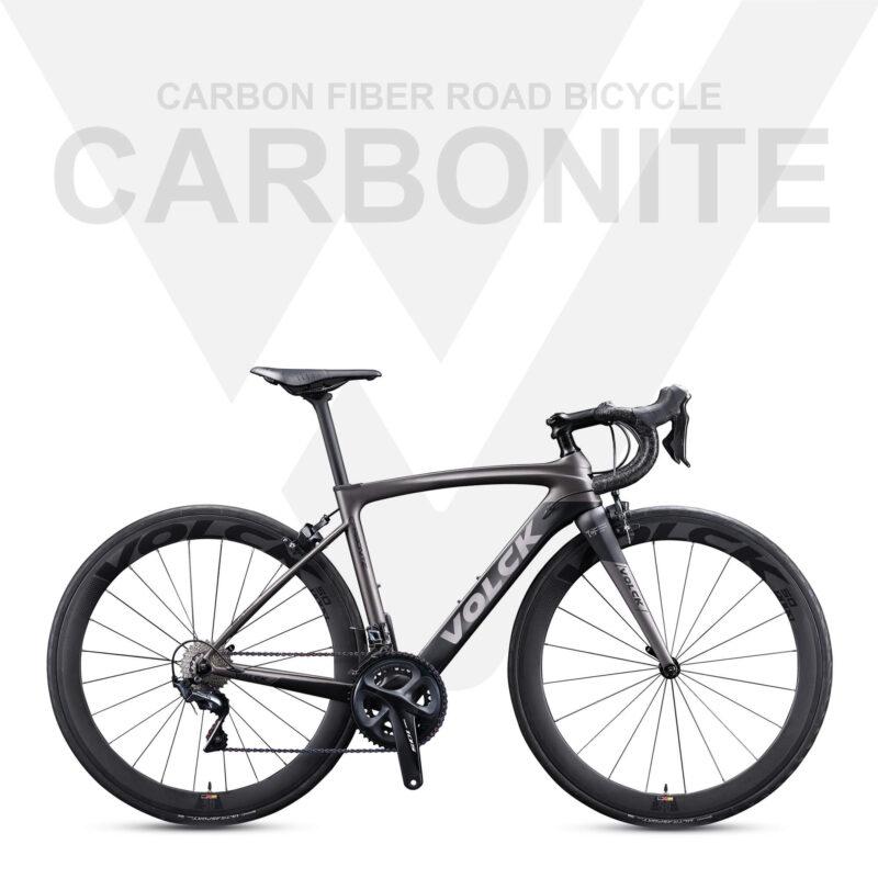 Carbonite Full Carbon Fiber Road Bike - Grey-Black