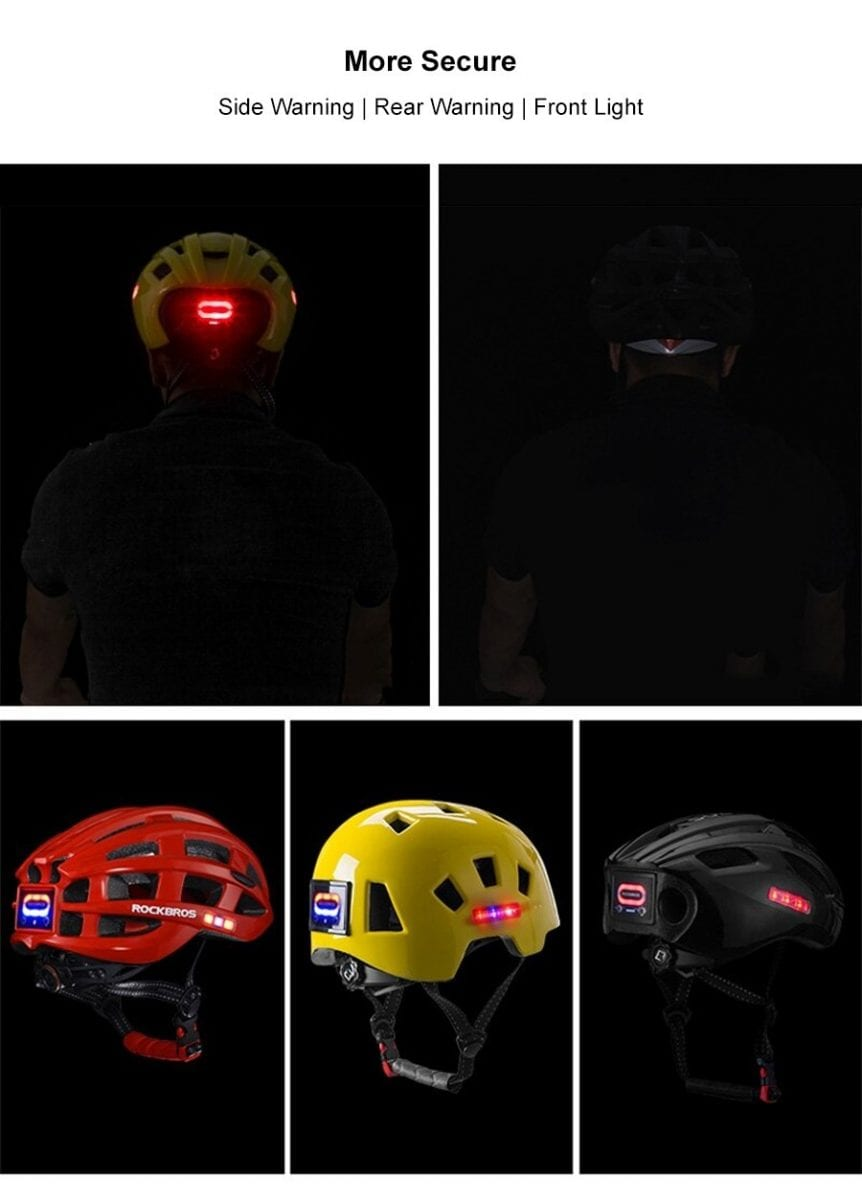 Rockbros Night Safety Riding Bicycle Helmet with Light ZN1001 p7