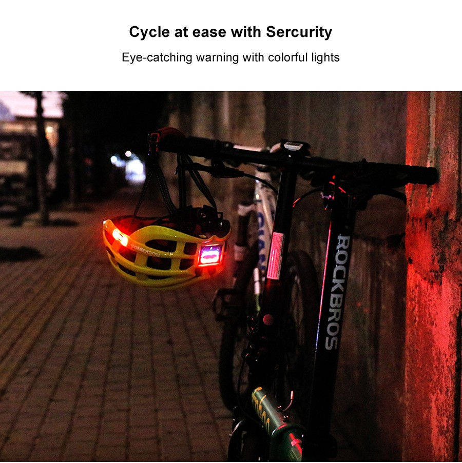 Rockbros Night Safety Riding Bicycle Helmet with Light ZN1001 p9