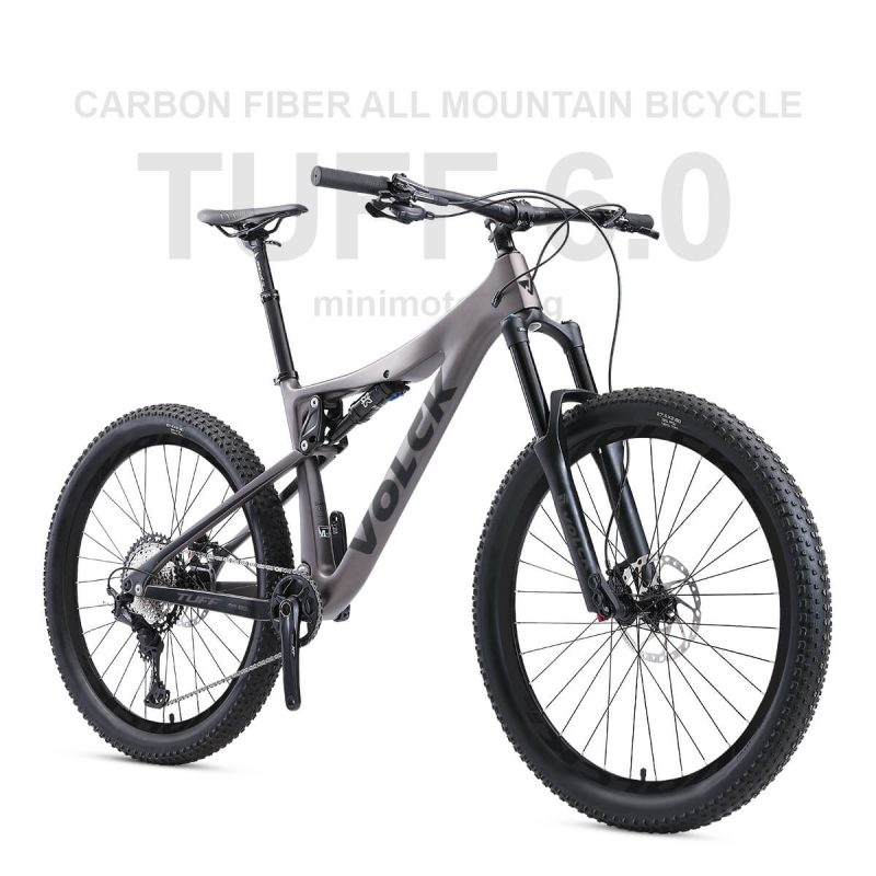 VOLCK Tuff 6 Carbon Fiber Full Suspension All Mountain Bike | Shimano Deore M6100 | Free Shipping & Assemble | 5 Years Warranty