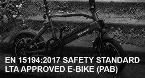 EN 15194:2017 Safety Standard LTA Approved Electric Bike in Singapore