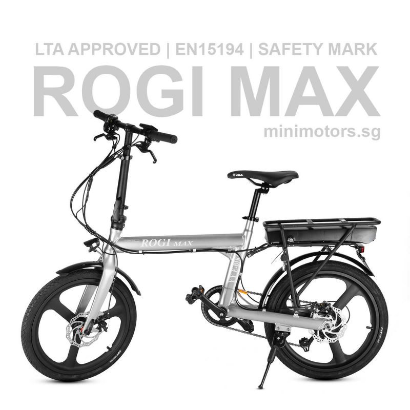 ROGI Max Electric Bicycle | 48V 14Ah | Shimano Tourney 6 Speed | LTA Approved | EN15194 | Safety Mark | Free 6 Months Warranty